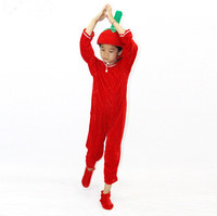 child Tomato vegetable performing suits and dance costumes