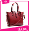 2015 latest fashion wine red tote bags Top Grade Unique Design Lady Handles and Adjustable Shoulder Strap pure leather handbags