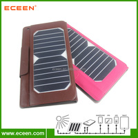 leather solar ipad case, 7watts solar tablet bag with 5000mah battery inside