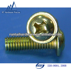 phillips round head cap screw with znic plated
