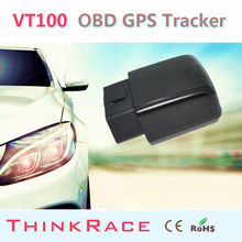 Cheap and Stable OBD tracking system car gps tracker VT100 withBuild-in backup battery OBD2 by Thinkrace