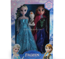 DIHAO Dolls Frozen 2014 Top selling 11.5 inch plastic disny frozen singing dolls with the movie song let it go !