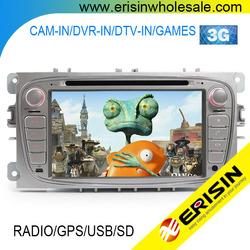 "Erisin ES7089F 7"" HD Head Unit 2 Din Car DVD Player GPS for S-MAX 2008"