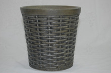 cheap& high quality new style old-fashion blow molding round rattan plastic flower pot