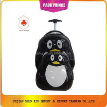 Penguin print ABS PC trolley luggage bag