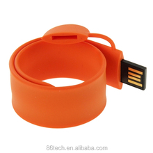 Silicon bracelet usb flash drives, Factory price full capacity branded usb flash driver GB