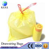 HDPE LDPE colored drawstring trash garbage bag