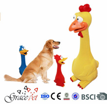 rubber dog toy / screaming chicken dog toy