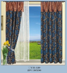 [ready made]15 years top-rated golden seller newest 100% polyester printed finished curtain