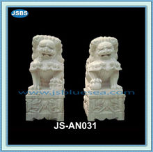 stone marble lion carving