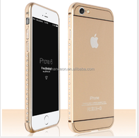 Luxury Metal aluminum Bumper with arcylic back cover case for iphone 6 CO-MIX-9024