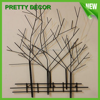 Indoor Wall Background Decoration Crafts / Metal Tree Sculpture for wall decor