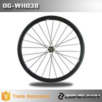 38mm Carbon 23mm Rim 3K Tubular Flat Areo Spoke Road Bike Wheelset