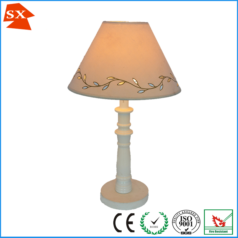 Uk Shopping Mall Small Cream White Leaves Cone Bedside