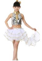 Children hip hop dance dress jazz modern dance costumes performance clothing girl students dress