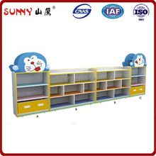 Colorful anime type wood infant toy closet