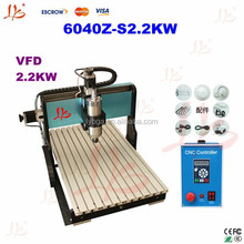 Hot products for cnc drilling and milling machine, LY 6040Z-S2.2KW cnc cutting machine with ball screw and limit switch routing