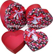 Colorful Custom Heart Shaped Cardboard Box/Candy Box with Ribbon Tie in Dongguan