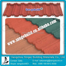 Color Stone Coated Metal Kerala Roof Tiles 1340x420x0.4mm Size