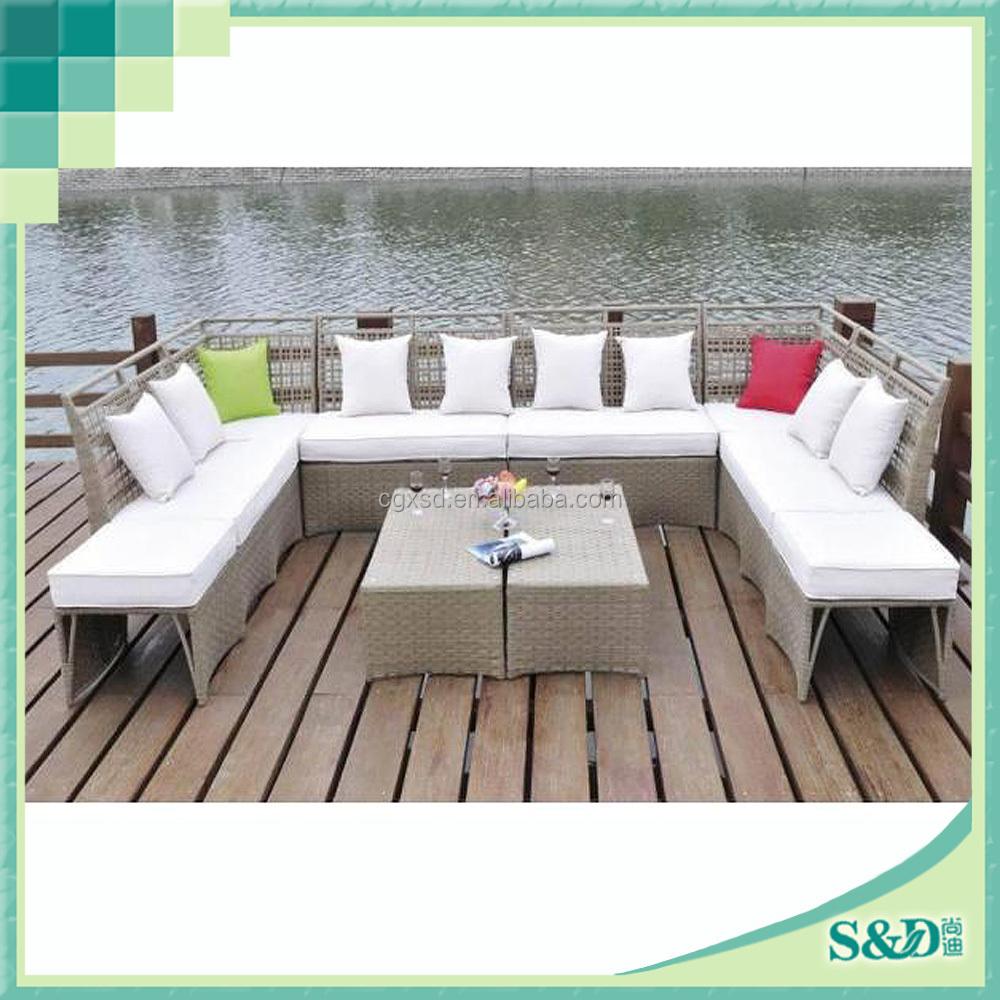 2015 pop indoor outdoor furniture bed room sofa set for Indoor garden room furniture