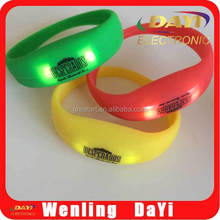 Flashing led flashlight wristband, led light wrist band
