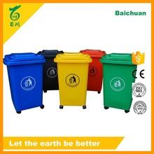 Plástico reciclaje holder Wheelie Bin 13 galones bote de basura artículos de cocina