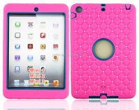 For iPad mini 123 shockproof defender case with rhinestone design