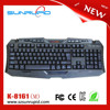High quality standard multimedia type gaming keyboard gamer keyboard with hot keys