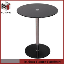 Wholesaler 3 colors round glass top dining table set