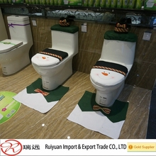 Best Selling Popular Snowman Christmas Bathroom Set for home decoration