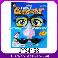 Funny plastic kids party favor glasses prank toys with flash