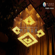 large power 150W copper crystal chandelier pendant