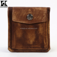SK-8133 First grade OEM design vintage genuine leather wallet with ID window and coin case for men