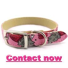 2015 Shanghai pet collar High quality pet training collar print dog collar L041014