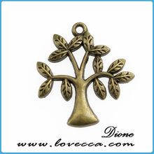 Tree Charms in Antiqued Copper Tone, Lead/Nickel Free Base Metal Charms