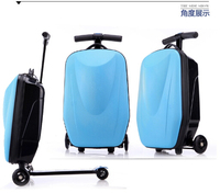 PC/EVA luggage 22l motorcycle motorbike scooter back rear box top case helmet storage luggage with 3 wheels