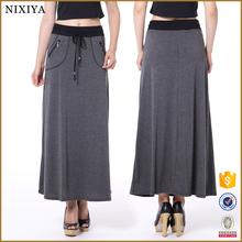 Long Skirts Latest Fashion Design Ladies Skirt Cotton Loose Skirts