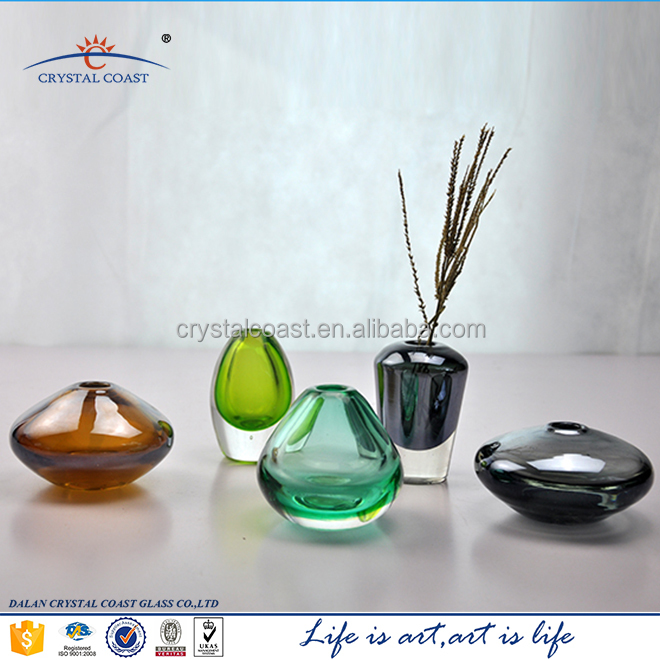 Hand Blown Reed Diffuser Glass Bottle Colored Reed