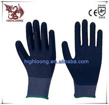 13G Polyester Nitrile Smooth Adjustable Palm Coating Safety Gloves for Construction Work