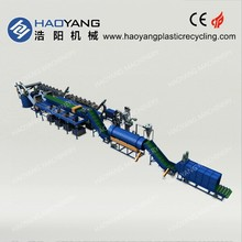 top class for pet bottle crushing washing drying recycling line/pet flakes cold wash/pet recycling line hot wash