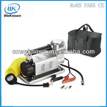 12 volt DC portable portable car tire inflator pump/car tire pump/car mini air compressor