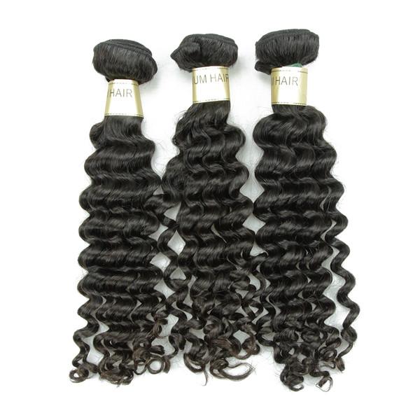 Mode Vague Profonde Vierge Cheveux Humains Non Transformés Cheveux Indiens Extensions