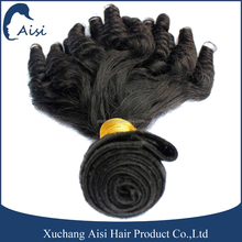 14 to 24 inch Chinese human hair extension black curly weave fumi hair