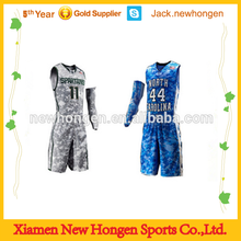 Digital sublimation camo basketball jersey/basketball uniform/basketball wear