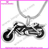 IJD8605 New design cool motorbike pendant ash urn jewelry 316l stainless steel urn jewelry for men