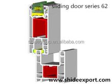 pvc profile color extrusion triple track sliding door