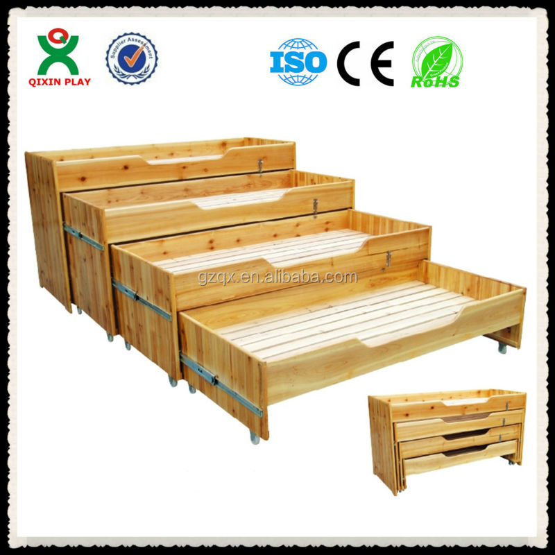Four Layer Wooden Kids Bed Toddler Bedroom Furniture