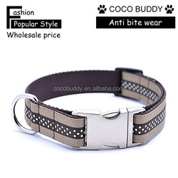 stripe and dots pattern western style dog collars dog products you can import from China