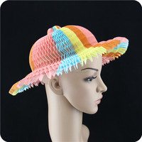 Hot sale magic paper vase hat/ Folded paper cap