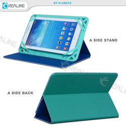 both sides available case for ipad mini ,universal leather case for 8 inch tablet